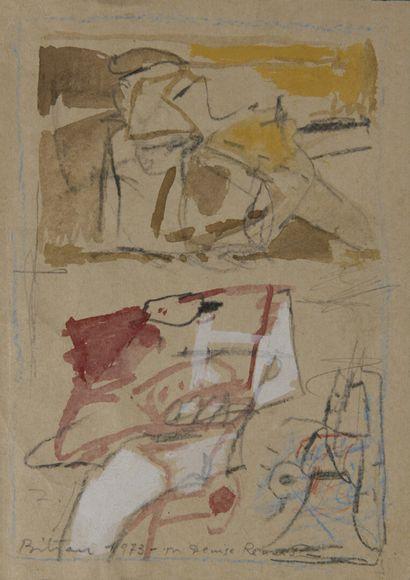 Albert BITRAN (1931-2018)  Composition abstraite....