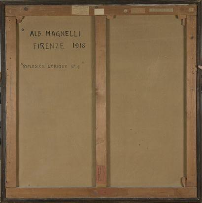 Alberto MAGNELLI (1888-1971) Explosion lyrique n°1  Huile sur toile, signée et datée...