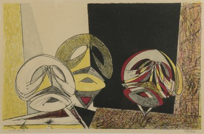 Max ERNST (1891-1976)  Masques, 1950  Lithographie...