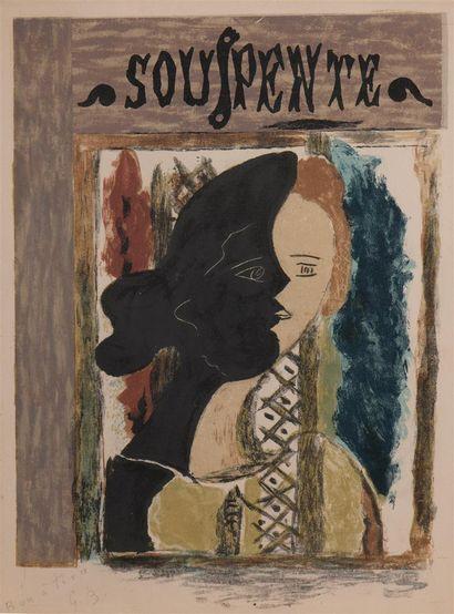 Georges BRAQUE (1882-1963)  Souspente, 1945...