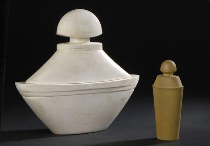 GUERLAIN  Samsara  Épreuves en plâtre, terre cuite et verre du flacon  de parfum...