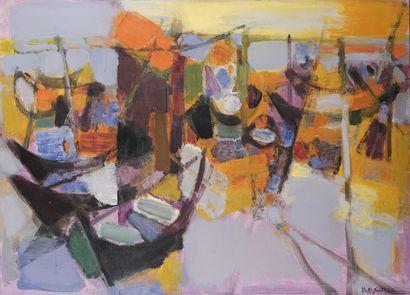 Maurice Élie SARTHOU (1911-2000)  Barque...