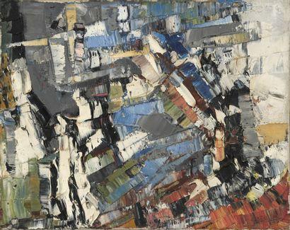 Jean-Paul RIOPELLE (1923-2002)  Composition abstraite, circa 1956  Huile sur toile...