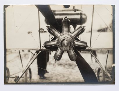 Lucien Loth (1885-1978)  Moteur rotatif Gnome...