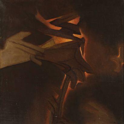 Paul ACKERMAN (1908-1981)  Lumière orange...