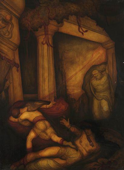 Léonard SARLUIS (1874-1949)  Dante aux enfers...