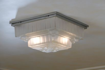 SABINO  Ceiling lamp with square body in...