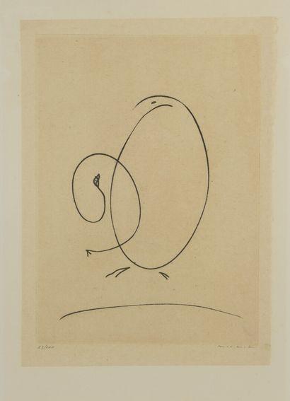 Max ERNST (1891-1976)  Tout en un plus un,...