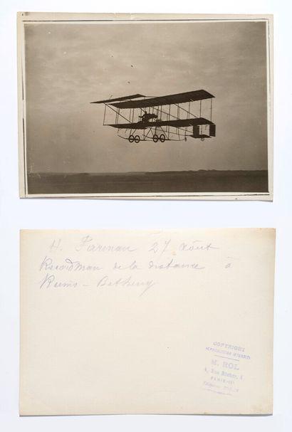 Agence ROL (act. 1904-1937)  Farman en vol...