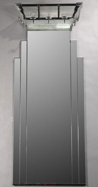 SOFAR  Porte-manteau d'applique en glace, la partie supérieure éclairante en métal...
