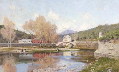 Jacques Louis ODIER (1853-1930)  Ponte Balbi,...