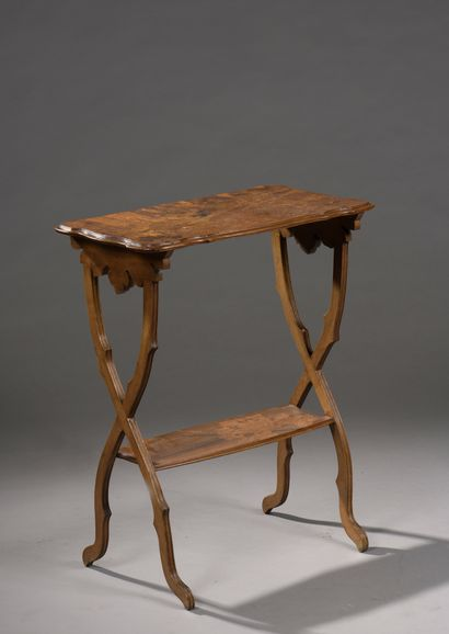 Émile GALLÉ (1846-1904)  Inlaid pedestal...