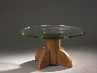 KRIEGER (in the taste of)  Pedestal table...