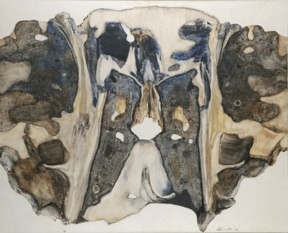 Henryk STRUMILLO  (Wilno 1934 - 2001 ód)  On the Peninsula of the Hand, 1981  Oil...