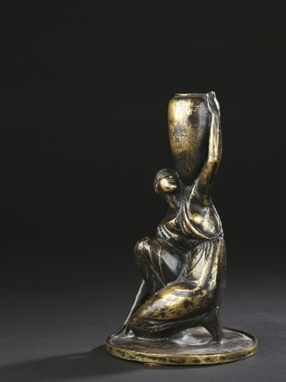 Cecil HOWARD (1888-1956)  Water carrier  Candlestick...