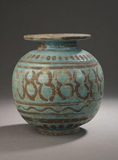 Jean BESNARD (1889-1958)  Ceramic vase with...