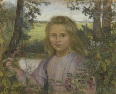 Lucien LÉVY-DHURMER (1865-1935)  Jeune fille...