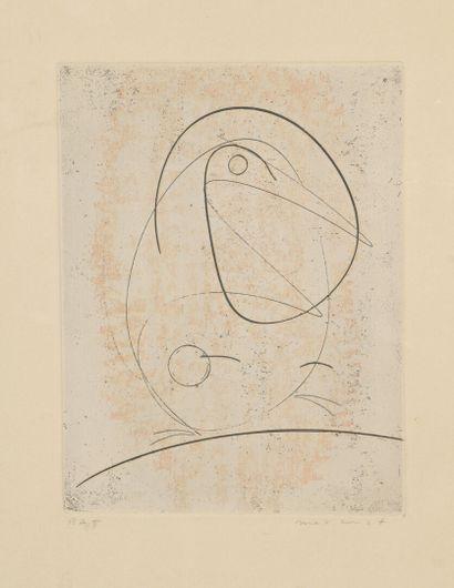 Max ERNST (1891-1976)  L'oiseau bleu, 1968...