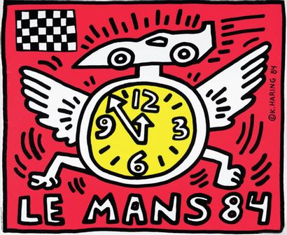 Keith HARING (1958-1990)  Le Mans 84  Affiche,...