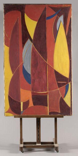 Marcel BURTIN (1902-1979)  Les voiles rouges...
