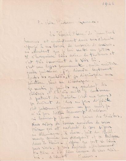 Jean-Paul LAURENS (1838-1921)  Le Cheval blanc  Huile sur toile, monogrammée en...