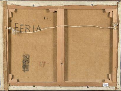 Edgard PILLET (1912-1996)  Feria  Huile sur toile, signée en bas à droite et titrée...