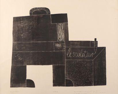 Pierre SZEKELY (1923-2001)  Le sculpteur,...