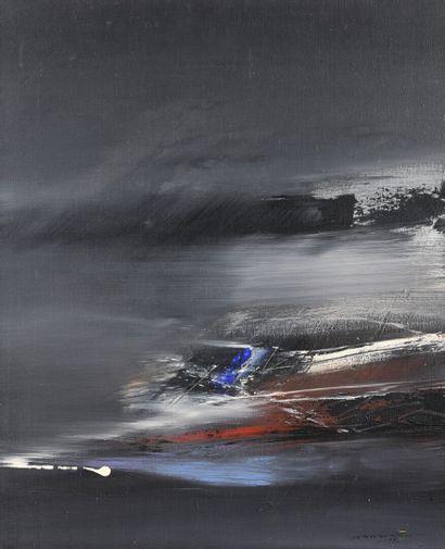 Julius BALTAZAR (1949)  Composition  Huile...