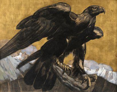 Paul JOUVE (1878-1973)  Aigle, circa 1929...