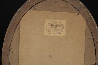 Ferdinand HEILBUTH (1826-1889)  Élégante  Huile sur panneau de carton, monogrammé...