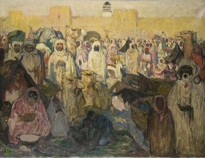 Fernand Allard l'Olivier dit L'OLIVIER (1883-1933)  Marché en orient  Huile sur...