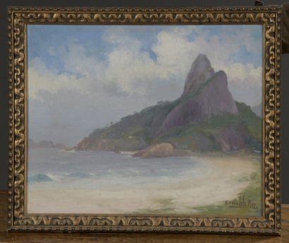 Francisco COCULILO (1895-1978)  Baie de Rio,...
