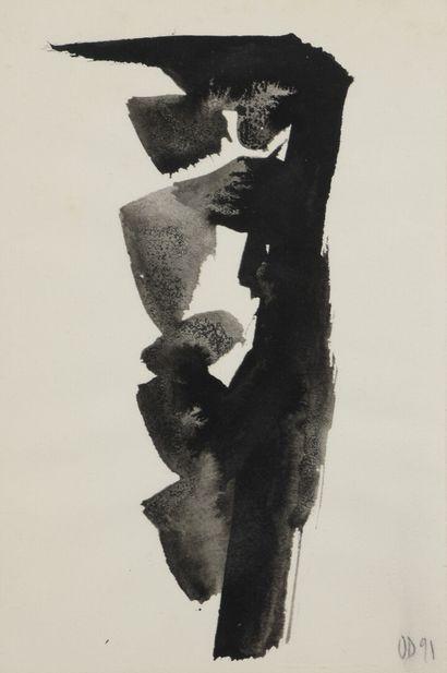 Olivier DEBRÉ (1920-1999)  Composition  Lavis...
