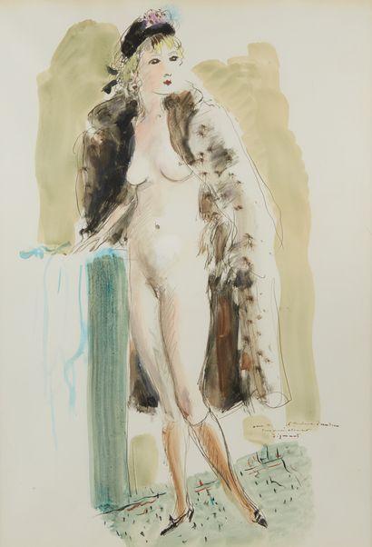 André DIGNIMONT (1891-1965)  Femme nue au...