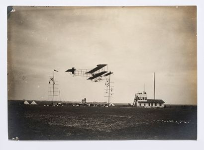 Lucien LOTH (1885-1978)  Avion qui passe...