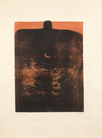 Pierre SZEKELY (1923-2001)  Moi  Estampe...