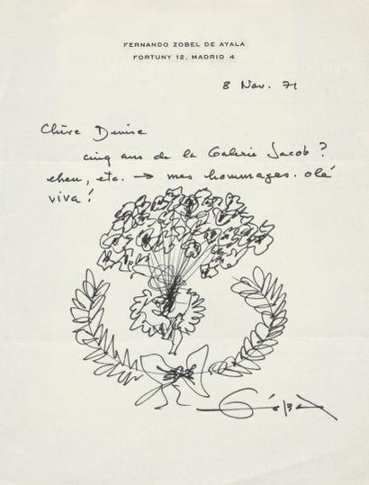 Fernando ZOBEL DE AYALA (1924-1984)  Bouquet...