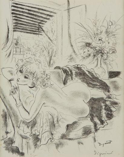 André DIGNIMONT (1891-1965)  Femme nue allongée...