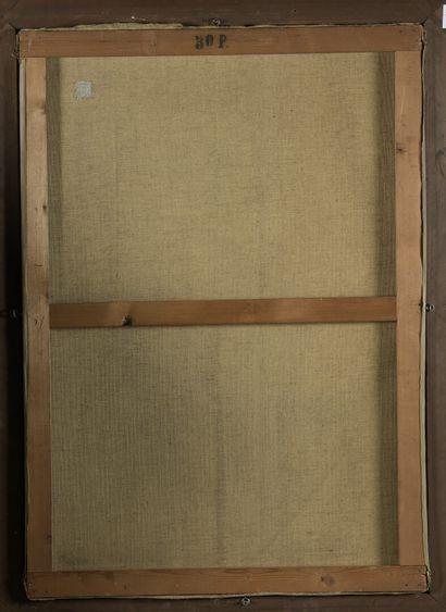Paul PHILIPPE (1870-1930)  Cale en Bretagne  Huile sur toile, signée en bas à gauche....