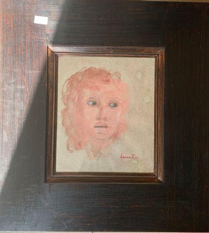 Leonor FINI (1907-1996)  Portrait de femme en buste  Aquarelle et gouache sur papier...