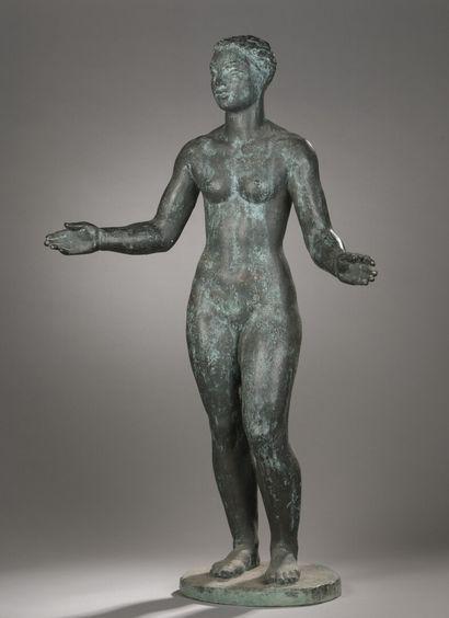 Henri-Marius PETIT (1913-2009)  Nu, les bras...
