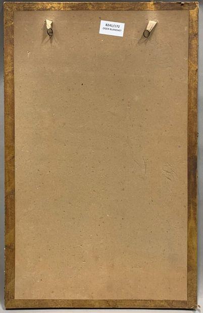 Emile CHOUANARD (actif à la fin du XIXème et au début du XXème siècle).  Nu  Sanguine...