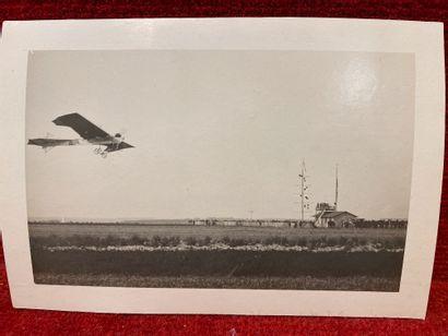 Lucien LOTH (1885-1978)  Avion qui passe au-dessus de la station météorologique...