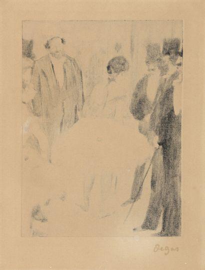 Edgar DEGAS  Virginie (Cardinal) admirée pendant que le Marquis Cavalcanti la regarde...