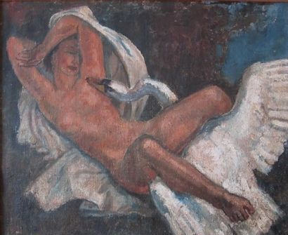 Henri-Marius PETIT (1913-2009)  Leda et le...