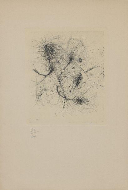 Otto WOLS (1913-1951)  Composition  Eau-forte,...