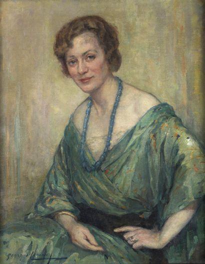 Georges LEMMERS (1871-1944)  Portrait de...