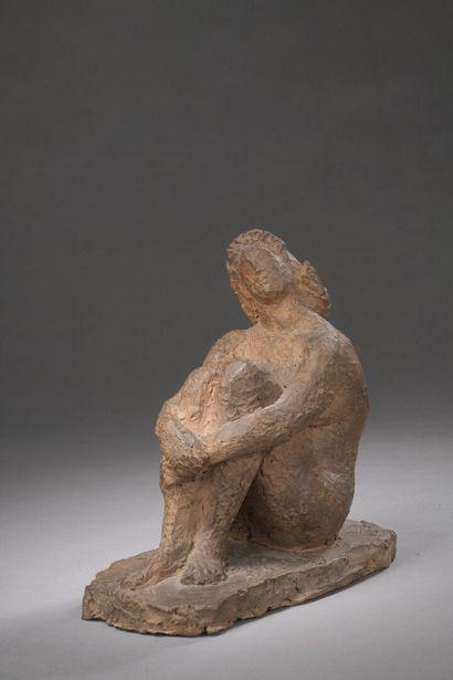 Henri-Marius PETIT (1913-2009)  Femme assise...