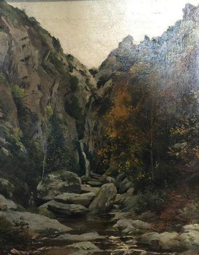 Attribué à Francis GOULLIN (1840-1913)  Gorges...