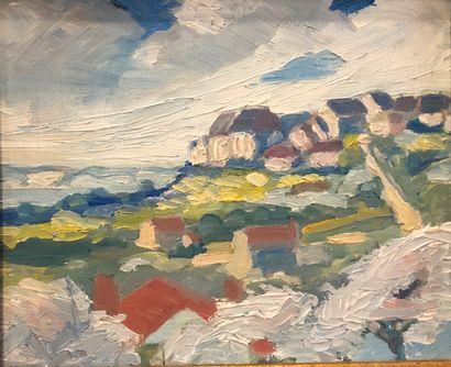 Ecole Bretonne  Paysages côtiers  Huile sur...